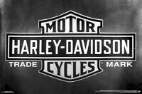 HARLEY-DAVIDSON - VINTAGE LOGO POSTER - 22x34 - MOTORCYCLE 15476