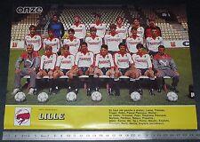 CLIPPING POSTER FOOTBALL 1985-1986 LILLE OSC LOSC DOGUES GRIMONPREZ-JOORIS
