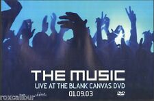 THE MUSIC Live At The Blank Canvas Rare Orig Official UK Record Company POSTER