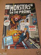 Monsters On The Prowl # 13 October  1971 Jack Kirby Art - Marvel Comics