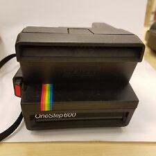 OLD Polaroid Spirit Instant One Step 600 Land Camera Rainbow Stripe Strap