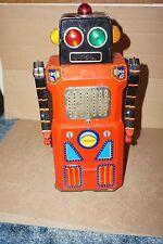 VINTAGE GIANT SONIC TRAIN ROBOT BY MASUDAYA MODERN TOYS GANG OF 5 SKIRTED ROBOT