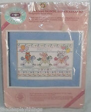 "Stitch Kit Birth Record ROCKING HORSE Sealed 12"" X 9"" Vtg 1987"