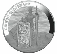 CHIWOO CHEONWANG - 2019 1 Clay 1 oz Pure Silver Proof Medal - South Korea KOMSCO