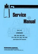 International Farmall 385 454 464 484 574 584 Tractor Chassis Service Manual Ih