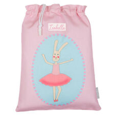 Personalised Drawstring PE Pump Gym Shoe Ballet School Bag Florence The Rabbit