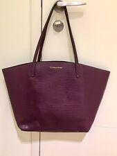 Victoria's Secret Púrpura Oscuro Borgoña Bolso de compras Edición Rara-NUEVO