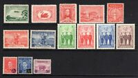 1929 to 1941 - 14 Assorted MINT HINGED ( Including 3 SETS ) - GOOD CONDITION