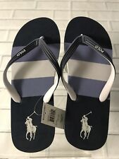 Men's Flit Flops Polo Pony Ralph Lauren's Brand New Colors Black & Navy.