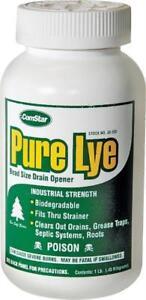 COMSTAR PURE LYE  DRAIN OPENER DRAIN CLEANER 1LB 30-500