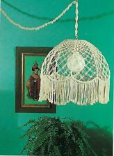 Vtg Retro Swag Hanging Tiffany Lamp Shade Pattern New Macrame Craft Book HP450