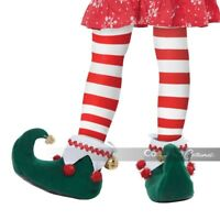 California Costume Elf Child Santa Christmas Xmas Costume Accessory Shoes 60728