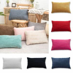 30x50cm Corduroy Striped Pillow Case Waist Throw Cushion Cover Home Sofa Decor