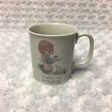 Precious Moments Vintage Christmas Ceramic Coffee Tea Cup Mug 1985