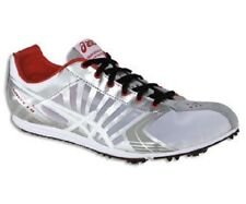 New Mens US Size 12.5 ASICS SPIVEY LD Track Spikes G302Y Silver Red White