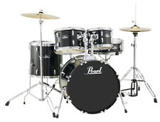 Pearl Roadshow 5 Piece Drum Set With Hardware & Cymbals - Jet Black - RS505C/C31