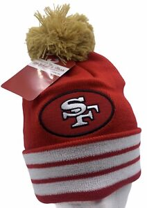 San Francisco 49ers Stocking Cap Winter Knit Hat Beanie Big Time Mitchell & Ness