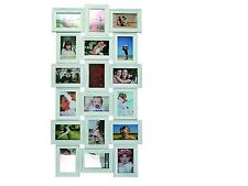 """18 FAMILY PICTURE HANGING ANTIQUE WHITE 18 6 x 4"""" PHOTO FRAME HOLDER"""