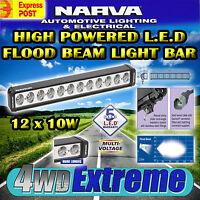 NARVA 72760 HIGH POWERED LED LIGHT BAR, 12x 10WATT L.E.D 9000 LUMEN FLOOD LAMP