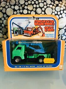 Constructions Truck Battery Operated Made IN Hong Kong Vintage Perfect
