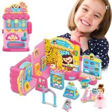 Distributore Dolci Playset Supermercato Giocattolo Bambini con Bambola Accessori