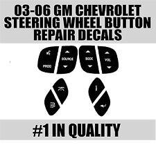 00-2006 GM Steering Wheel Button Decals Stickers Sierra Silverado Yukon Tahoe