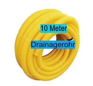 10 Meter Drainagerohr Drainage Sickerrohr DN100 Gelb Gelocht Entwässerung WOW