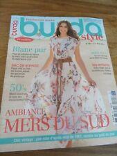 MAGAZINE BURDA BLANC PUR AMBIANCE MERS DU SUD MAI    2012 N°149