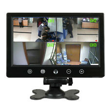 9 Inch HD 4 Split Quad 4 Video Input TFT LCD Car Rear View Monitor for Bus Truck