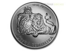 25 $ Dollar Czech Lion - Tschechischer Löwe Niue Island 10 oz Silber 2017