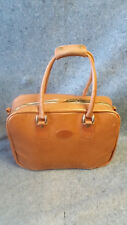 Vintage King Ranch Leather Brief Case Day Bag Gym Small Duffle