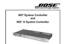 BOSE 402 402 II 802 II 802 III SYSTEM CONTROLLER SERVICE MANUAL BOOK IN ENGLISH