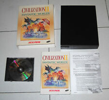 Gioco Pc Cd CIVILIZATION II 2 FANTASTIC WORLDS Box MicroProse 1997 Ci