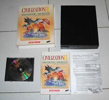 Gioco Pc Cd CIVILIZATION II 2 FANTASTIC WORLDS Box MicroProse 1997 Ci