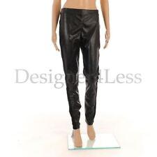 """GARELLA Trousers Black Faux Leather Slim Leg Leggings Size 2 / W: 30"""" / MG 438"""