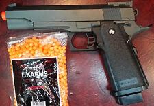 BEST QUALITY FULL SIZE METAL SPRING AIRSOFT GUN PISTOL FREE 2000 BB'S PELLET