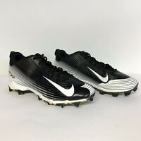 Nike Vapor Mens Baseball Cleats Shoes Black White 684698-010 Size 9