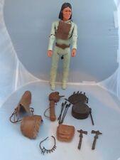 Vintage MARX Johnny West Geronimo figure, accessories