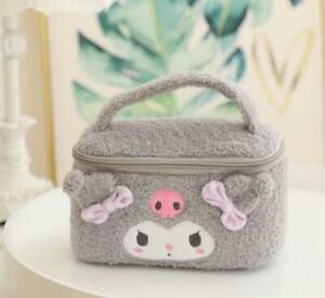 Kuromi gray  Plush Makeup Box Cosmetic case Beauty Case handbag anime