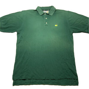 Vintage Augusta Masters Collection Embroidered Golf Polo Shirt Size Large Faded