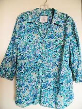 Sonoma Ladies Womens Floral Blouse Top Shirt Tunic Size XL