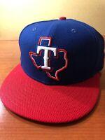 Texas Rangers MLB New Era 59Fifty OSFA 7 1/4 Official On Field Baseball Cap!!