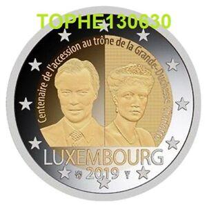 """LUXEMBOURG COMMÉMORATIVE 2019 """" ACCESSION AU TRONE """" 2 Euro - Neuve UNC -"""