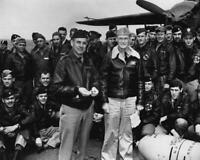 Lt. Col. Jimmy Doolittle with Tokyo Raiders WWII 8x10 Photo J-271