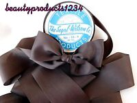"Vintage Ribbon 3 Yds.1 1/2"" BROWN Millinery Sewing Couture RAYON Segal-Wilson Co"