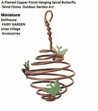 Miniature Dollhouse xmas village Garden Hanging Spiral Butterfly wind chime