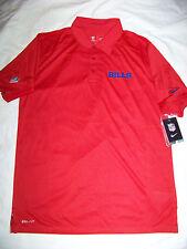 Nike DriFit Men's On Field Apparel Buffalo Bills Polo Shirt NWT Medium