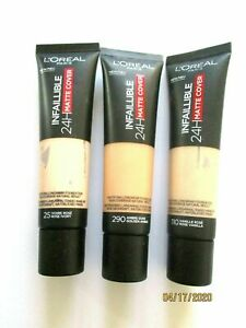L'oreal  Infallible 24H Matte Cover Foundation Various 30ml - Use drop down menu
