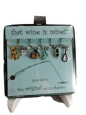 Fishing Theme Wine Glass Marker Charms That Wine Is Mine