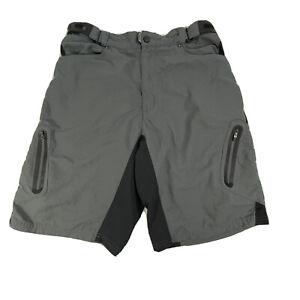 ZOIC Mens Gray Outdoor Mountain Biking Cycling Cargo Shorts XL-See